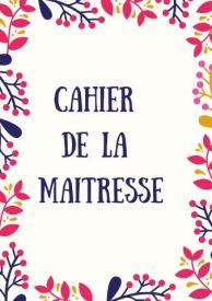 Cahier de la maitresse Floral rectangle