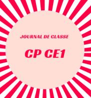 journal de classe cp ce1