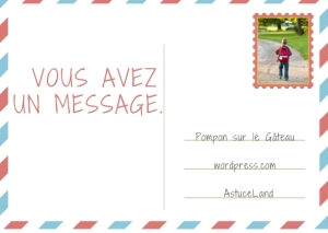 Postcard Style Note Card